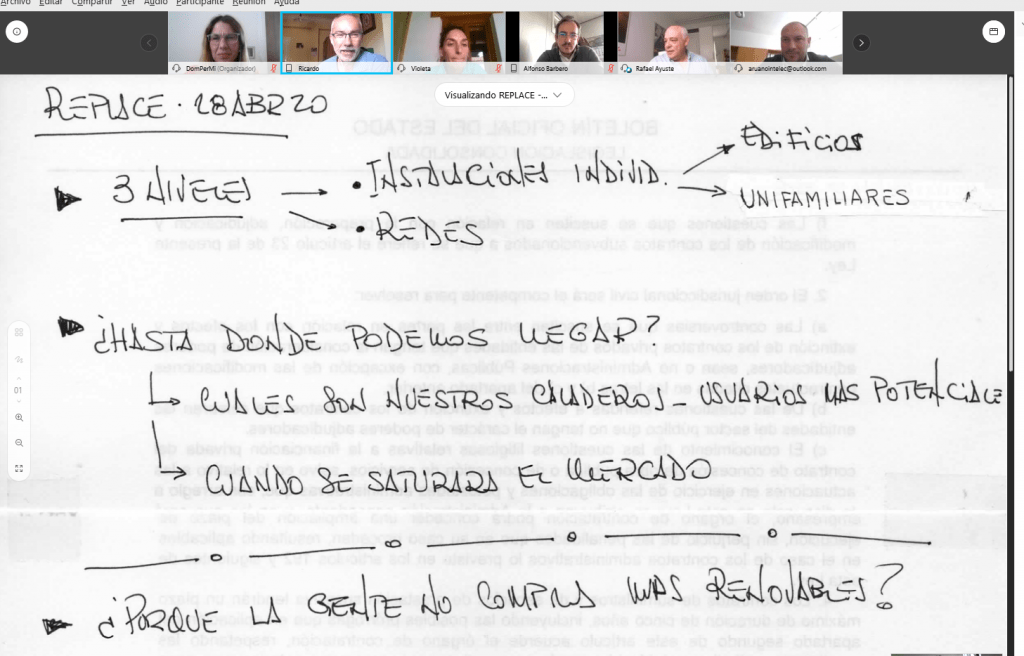 Photo of the first meeting of the LWG in Spain.